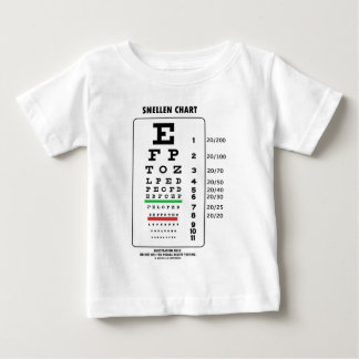 Snellen Chart (Medical Visual Acuity Testing) Baby T-Shirt