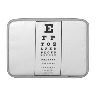 Snellen Chart Sleeves For MacBook Air