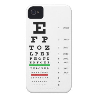 Snellen Eye Chart Barely There iPhone 4 Cas iPhone 4 Cover