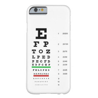 Snellen Eye Chart Barely There iPhone 6 Case