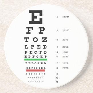 Snellen Eye Chart Coaster