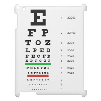 Snellen Eye Chart Cover For The iPad 2 3 4