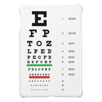 Snellen Eye Chart iPad Mini Covers