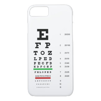 Snellen Eye Chart iPhone 7 Case