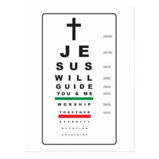 snellen eye chart jesus - postcard