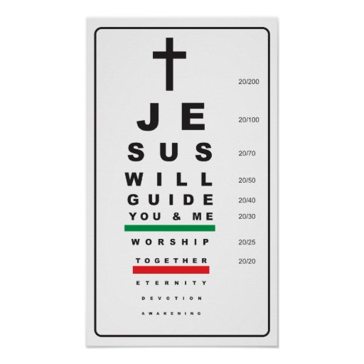 snellen eye chart jesus - poster
