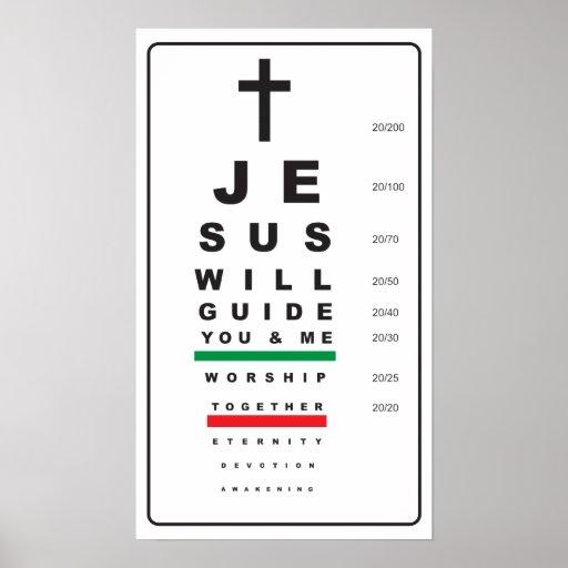 snellen eye chart jesus - poster posters