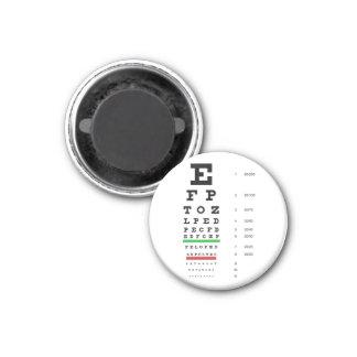 Snellen Eye Chart Magnet