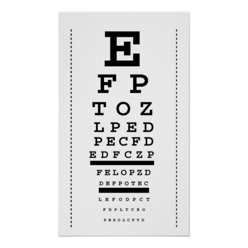 This is a picture of Dashing Printable Snellen Eye Charts