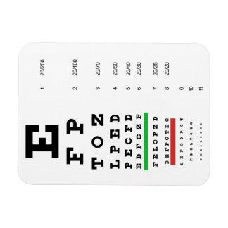 Snellen Eye Chart Premium Magnet