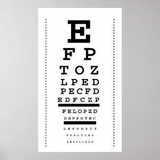Snellen eye chart print