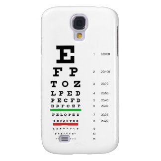 Snellen Eye Chart Samsung S4 Case