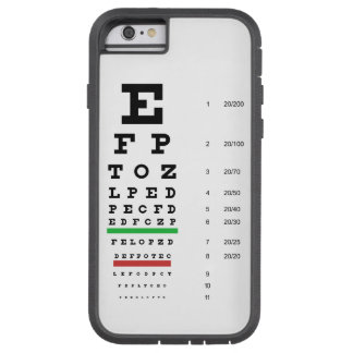Snellen Eye Chart Tough Xtreme iPhone 6 Case