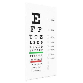 snellen la oftalmología de la carta lona estirada galerias