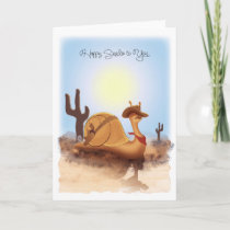 """Sneople"" Cowboy Snail on a Journey, GreetingCard Card"