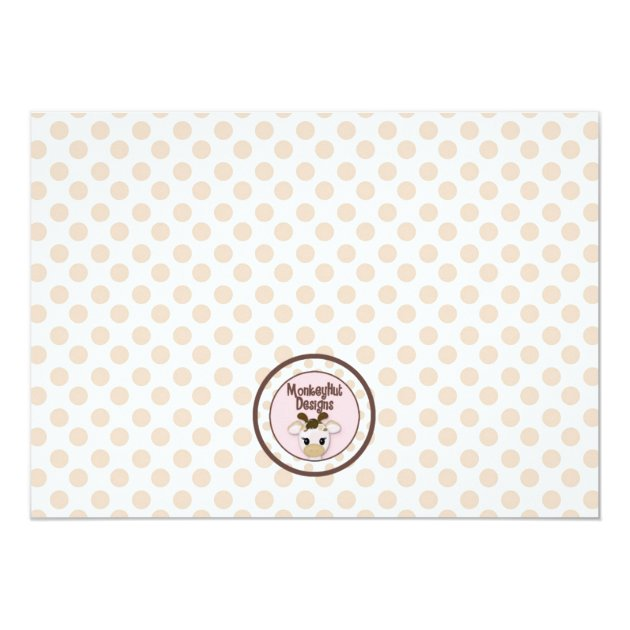Snickerdoodle Giraffe Baby Shower Invitations (back side)