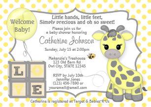 Giraffe baby shower invitations zazzle snickerdoodle giraffe baby shower invitations yg filmwisefo