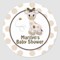 Snickerdoodle Giraffe Baby Shower Stickers