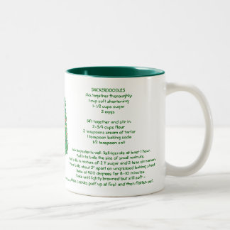 Snickerdoodles Christmas Two-Tone Coffee Mug