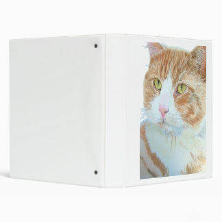 Snickers the Cat 3 Ring Binder