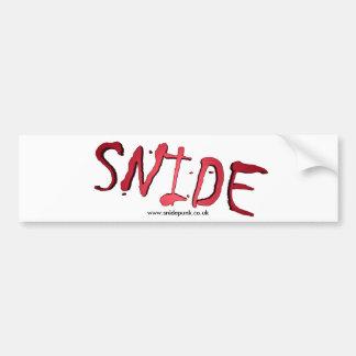 Snide Bumper Sticker