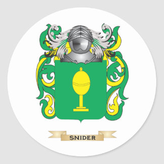 Snider Coat of Arms Family Crest Round Sticker