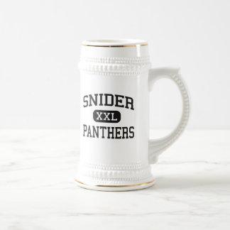 Snider - panteras - alto - fuerte Wayne Indiana Taza De Café