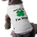 Sniff My Butt I'm Irish Doggy Shirt Dog T-shirt