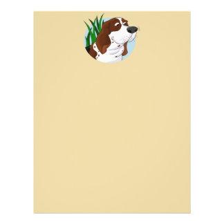 Sniffing Basset Hound Cartoon Flyer