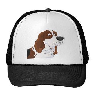 Sniffing Cartoon Basset Hound Trucker Hat