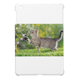 Sniffing Flowers Kitten iPad Mini Cover