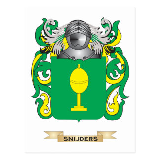 Snijders Coat of Arms (Family Crest) Postcard