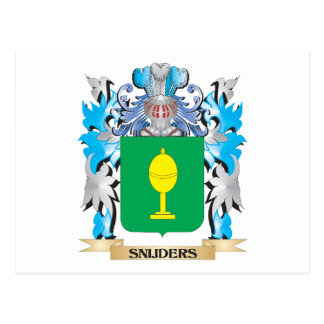 Snijders Coat of Arms - Family Crest Postcard