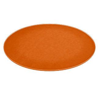 Snijplank glas rond oranje cutting board