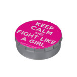 keep calm and fight like a girl  Snip Snap Tins Candy Tins