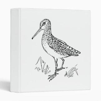 Snipe Bird Illustration Vinyl Binders