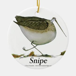 Snipe bird, tony fernandes ceramic ornament