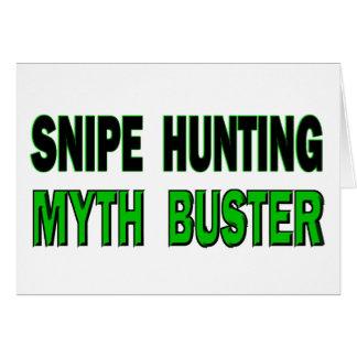 Snipe Hunting Myth Buster Card