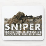 Sniper - Accurate Fire is Final Mousepad
