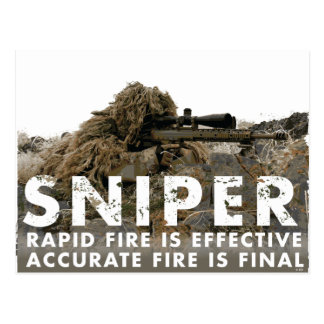 Sniper - Accurate Fire is Final Postcard