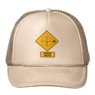 Sniper Ahead Warning Sign (Crosshairs) Trucker Hat