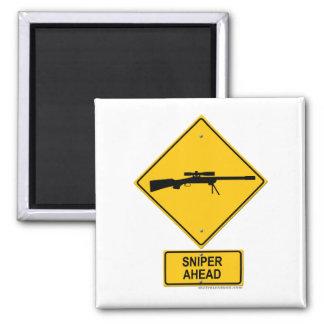 Sniper Ahead Warning Sign Magnet