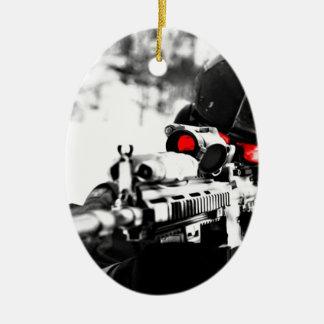Sniper Art Ceramic Ornament
