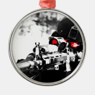Sniper Art Metal Ornament