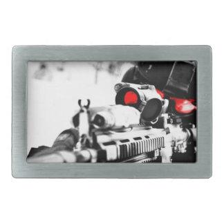 Sniper Art Rectangular Belt Buckle