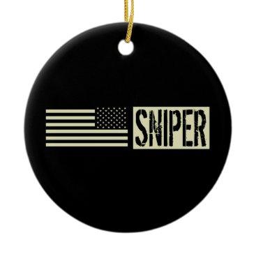 Sniper Ceramic Ornament