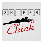 Sniper Chick Posters
