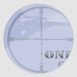 sniper classic round sticker
