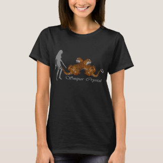 """""""Sniper Crystal with 2 Tigers"""" woman's T-shirt"""