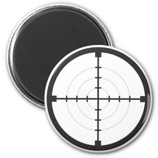 sniper finder target symbol weapon gun army fridge magnets